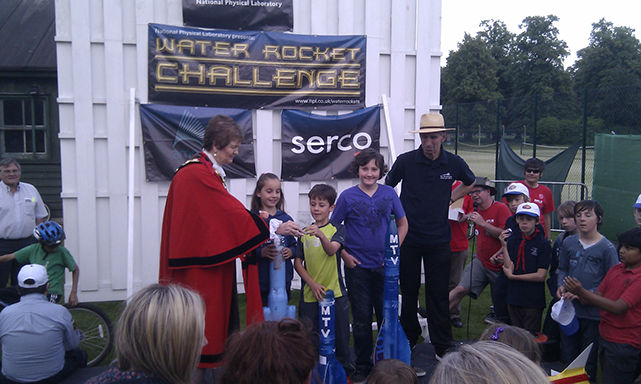 "MTV wins ""Best Engineering"" aware at NPL Water Rockets Challenge 2012"